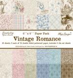 Набор бумаги 15х15 Vintage Romance 24 листа
