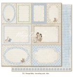 (MD) Vintage Baby - Journaling cards - blue