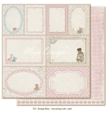(MD) Vintage Baby - Journaling cards - pink