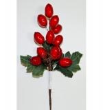 Букетик декоративный Гроздь красных ягод