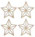 """Набор деревянных украшений """"Mini Stars"""""""