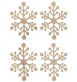 """Набор деревянных украшений """"Mini Snowflakes"""""""