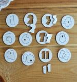 Набор цифр 1-12 с фоном