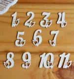 Набор цифр с сердечками