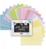 "Набор кардстока DCWV Single-Sided Mat Stack 4.5""X6.5"" 87/Pkg Pastels"