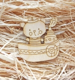 Деревянный чипборд, Мишка моряк