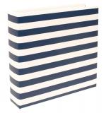 Альбом на кольцах Project Life - 6x8 - Navy Stripe