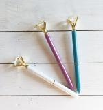 Ручка шариковая с бриллиантом Лиловая