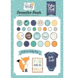 Брадс Echo Park Hello Baby Boy Decorative Brads 25/Pkg