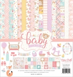 Набор 30х30 Hello Baby Girl (бумага+наклейки)