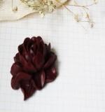 Цветок пиона Resin flower темный шоколад