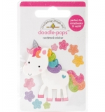 Doodlebug Doodle-Pops 3D Stickers - Fairy Tales Unicorn