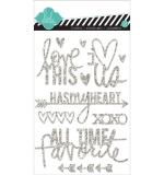Наклейки Glitter Stickers Silver, Love