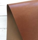 Отрез переплетного кожзама 50х35 см, глянцевый светло коричневый