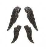 Набор украшений Крылья, серебро