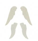 Набор украшений Крылья, белые