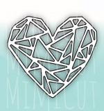 Нож для вырубки «Геометрия любви»