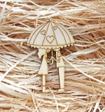 Деревянный чипборд, Пара под зонтом