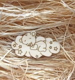 Деревянный чипборд, Мишка на облаке
