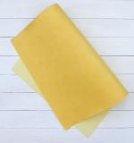 Отрез переплетного кожзама 50х35 см, солнечно желтый