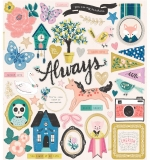 Чипборд Maggie Holmes Willow Lane Chipboard Stickers 44/Pkg