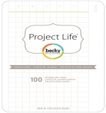 Project Life 4x6 Cards - Ledger Edition