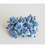 Миди розы 2 см Голубые