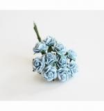 Мини розы 1 см Голубые