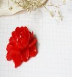 Цветок пиона Resin flower красный