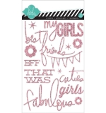 Наклейки Glitter Stickers Pink, Girls