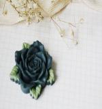 Цветок розы Resin flower серый