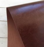 Отрез переплетного кожзама 50х35 см, глянцевый коричневый