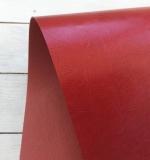 Отрез переплетного кожзама 50х35 см, глянцевый красный