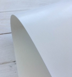 Отрез переплетного кожзама 50х35 см, глянцевый белый