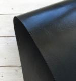 Отрез переплетного кожзама 50х35 см, глянцевый черный