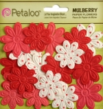 "Набор цветов ""Embossed Daisies Red"" (Petaloo)"