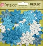 "Набор цветов ""Embossed Daisies Marine Blue"" (Petaloo)"