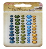 Клеевые граненые камушки, 50 шт Around the World 1