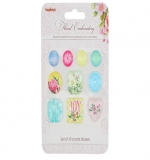 Акриловые камушки, клеевые Floral Embroidery