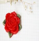 Цветок розы Resin flower красный