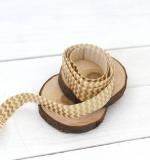 Резинка Бежево-золотой шеврон