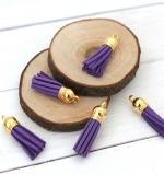 Кисточка замша 40мм, фиолетовая