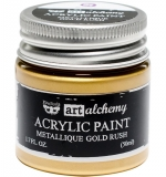 Finnabair Art Alchemy Acrylic Metallique Gold Rush