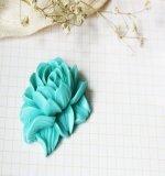 Цветок пиона Resin flower бирюза