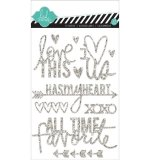 Наклейки Glitter Stickers Silver, Love