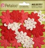 """Набор цветов """"Embossed Daisies Red"""" (Petaloo)"""