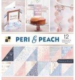 Набор бумаги 30х30 DCWV Peri&Peach
