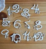 Набор цифр 1-12 со звездами